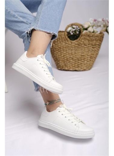 Oksit Jacinta Kadın Günlük Sneaker Beyaz